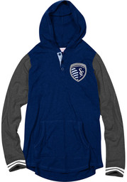 Mitchell and Ness SKC Mens Navy Blue Fashion Hood