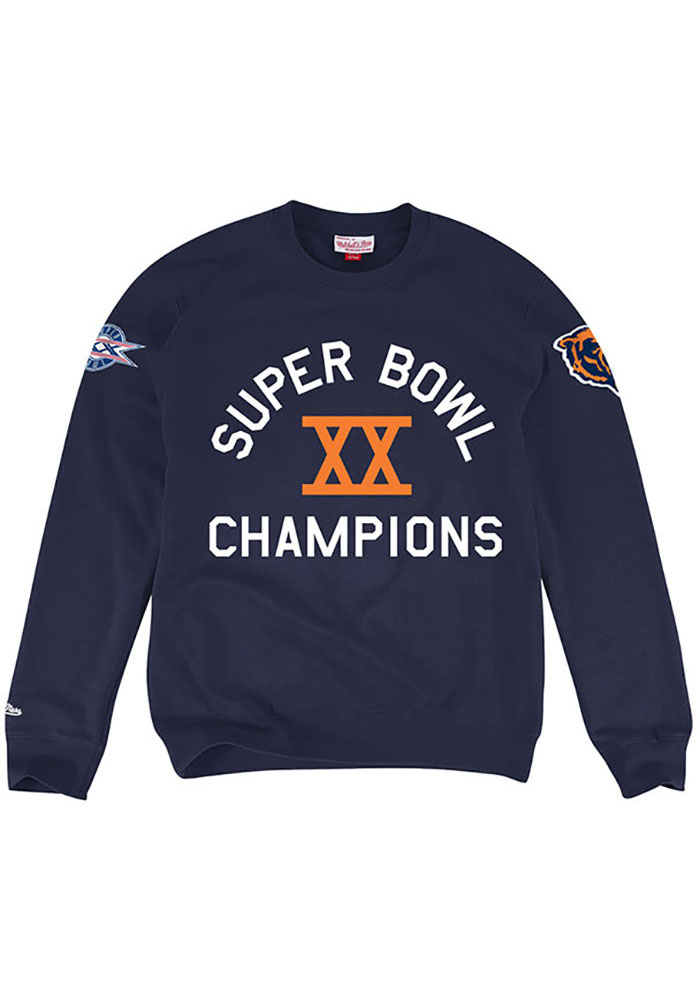 Mitchell and Ness Chicago Bears Mens Navy Blue Hometown Long Sleeve Fashion Sweatshirt - Image 1