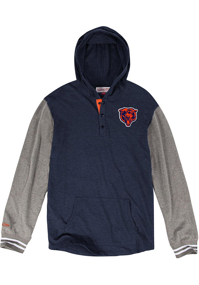 Mitchell and Ness Chicago Bears Mens Navy Blue Mid-Season Fashion Hood - Image 1