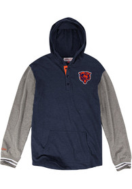 Mitchell and Ness Chicago Bears Mid-Season Navy Blue Fashion Hood