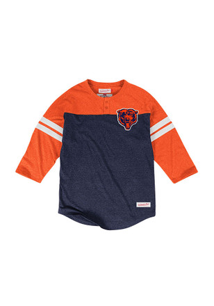 Mitchell and Ness Chicago Bears Mens Navy Blue Start of Season Fashion Tee