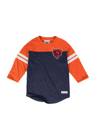 Mitchell and Ness Chicago Bears Navy Blue Start of Season Fashion Tee