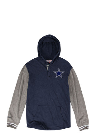 Cowboys Mens Navy Blue Fashion Hood