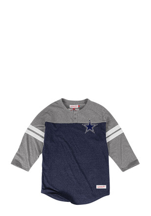 Mitchell and Ness Cowboys Mens Navy Blue Fashion Tee