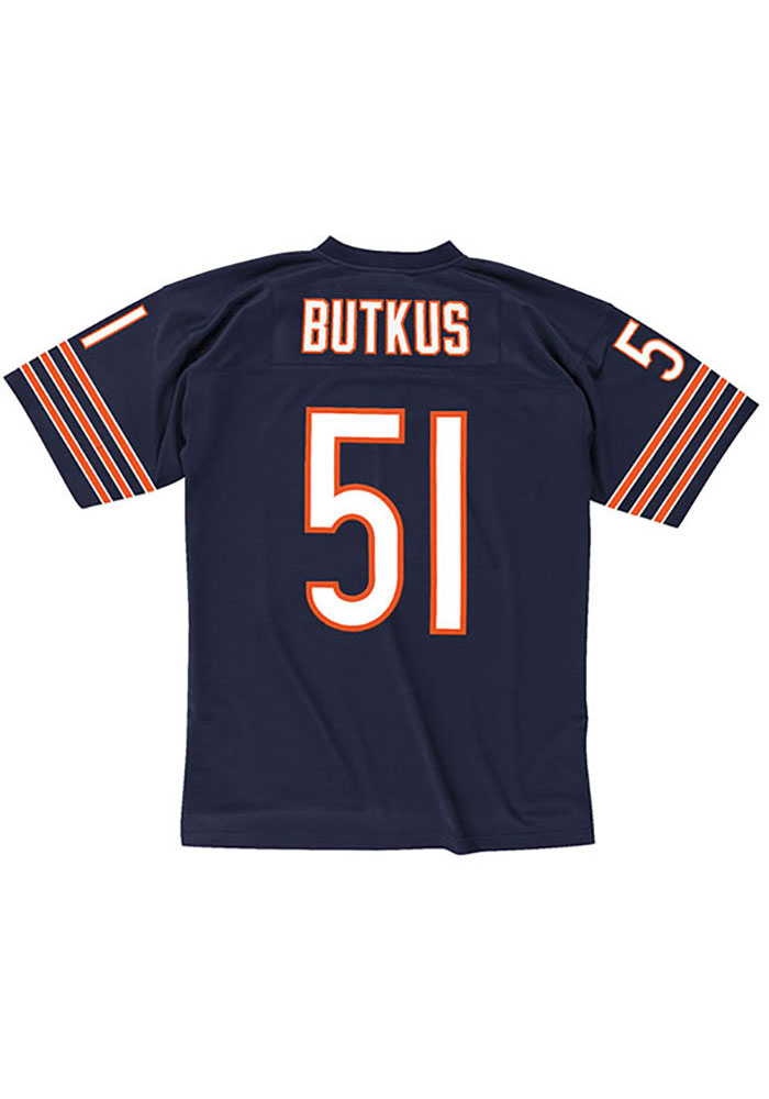 Dick Butkus Chicago Bears Mitchell and Ness 1966 Football Jersey - Navy Blue
