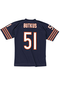 Mitchell and Ness Chicago Bears Dick Butkus 1966 Throwback Jersey - Navy Blue