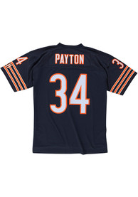 sports shoes 09a32 88490 Walter Payton Mitchell and Ness Chicago Bears Navy Blue 1985 Replica Jersey