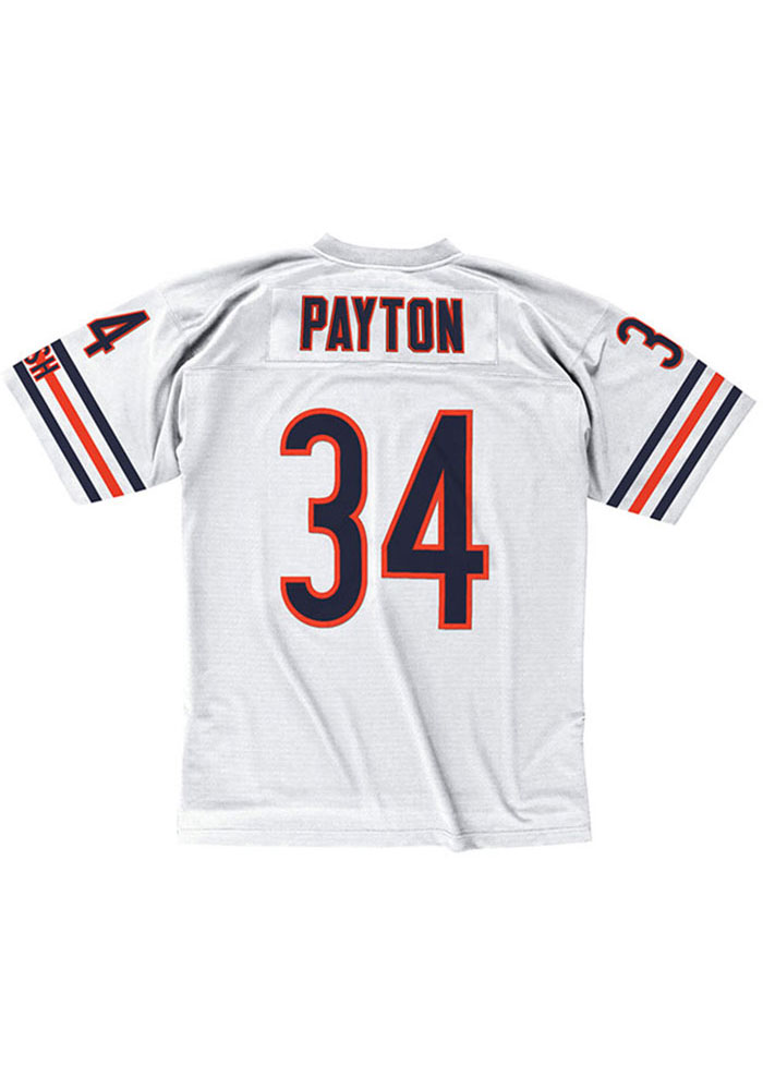 Walter Payton Mitchell and Ness Chicago Bears Mens White Replica Football Jersey - Image 1