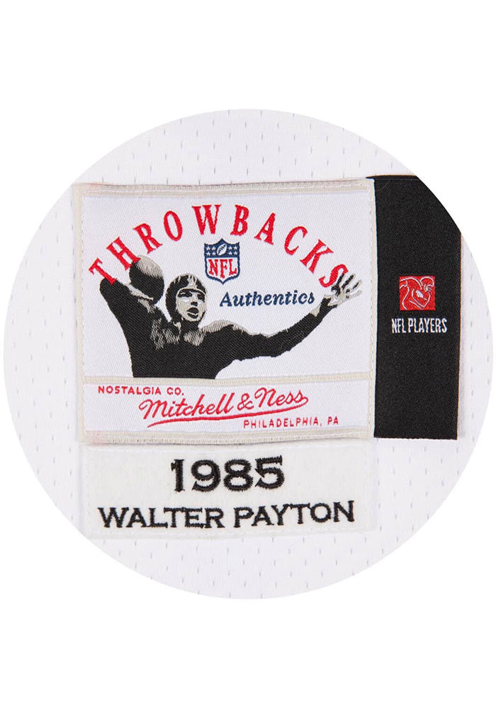 Walter Payton Mitchell and Ness Chicago Bears Mens White Replica Football Jersey - Image 3