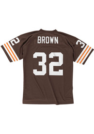Jim Brown Cleveland Browns Mitchell and Ness 1963 Football Jersey - Brown