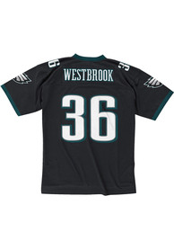 Mitchell and Ness Philadelphia Eagles Brian Westbrook 2003 Throwback Jersey - Black