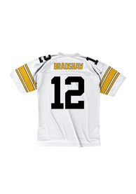 Terry Bradshaw Pittsburgh Steelers Mitchell and Ness 1976 Football Jersey - White