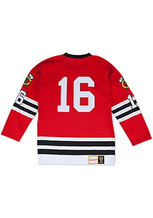 Bobby Hull Chicago Blackhawks Mens Red 60-61 Authentic Jersey
