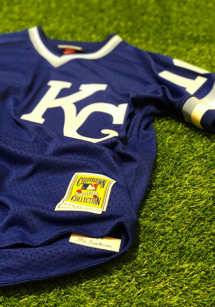 Bo Jackson Kansas City Royals Mens Cooperstown Jersey - Blue - Image 3