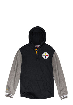 Mitchell and Ness Pittsburgh Steelers Mens Black Fashion Hood
