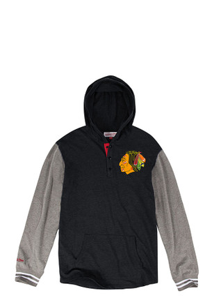Mitchell and Ness Chicago Blackhawks Mens Black Fashion Hood
