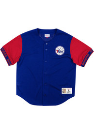 Philadelphia 76ers Mitchell and Ness Pure Shooter Basketball Jersey - Blue