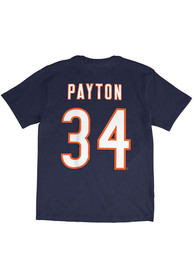 Walter Payton Chicago Bears Navy Blue Vintage Player Tee