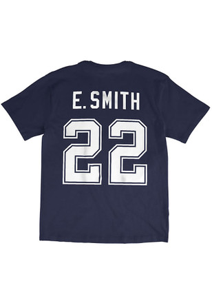 Emmitt Smith Dallas Cowboys Mens Navy Blue Vintage Player Tee