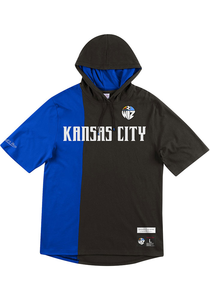 Mitchell and Ness Sporting Kansas City Mens Black KC Wizards Short Sleeve Split Short Sleeve Jacket - Image 1