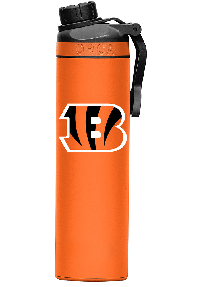 Cincinnati Bengals Hydra 22oz Color Logo Stainless Steel Tumbler - Orange - Image 1
