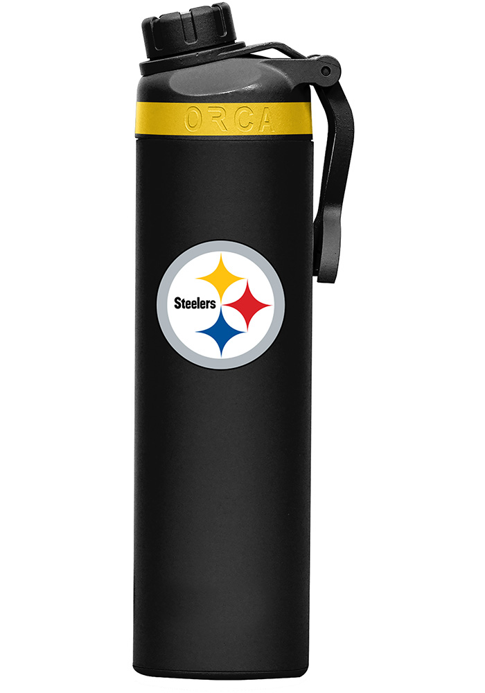 Pittsburgh Steelers Hydra 22oz Color Logo Stainless Steel Tumbler - Black