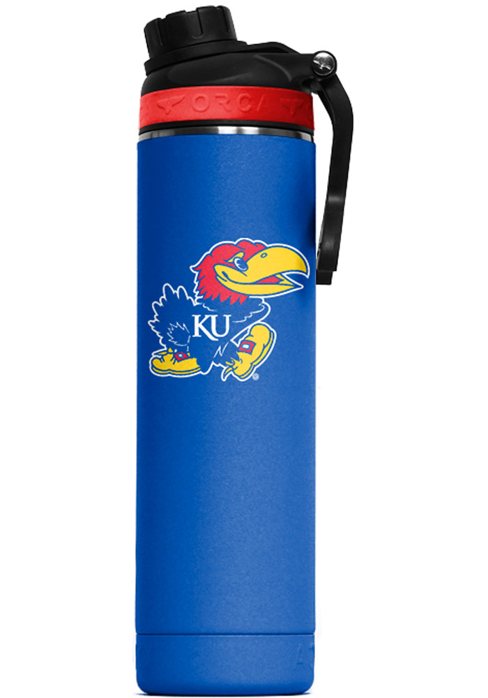 Kansas Jayhawks Hydra 22oz Color Logo Stainless Steel Tumbler - Blue
