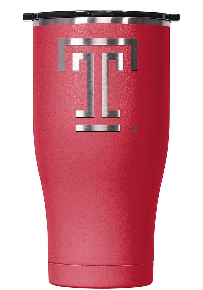 Temple Owls ORCA Chaser 27oz Laser Etched Logo Stainless Steel Tumbler - Red