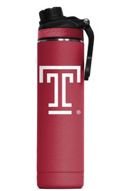 Temple Owls Hydra 22oz Color Logo Stainless Steel Tumbler - Red
