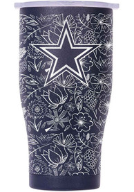Dallas Cowboys Chaser 27oz Floral Print Stainless Steel Tumbler - Navy Blue