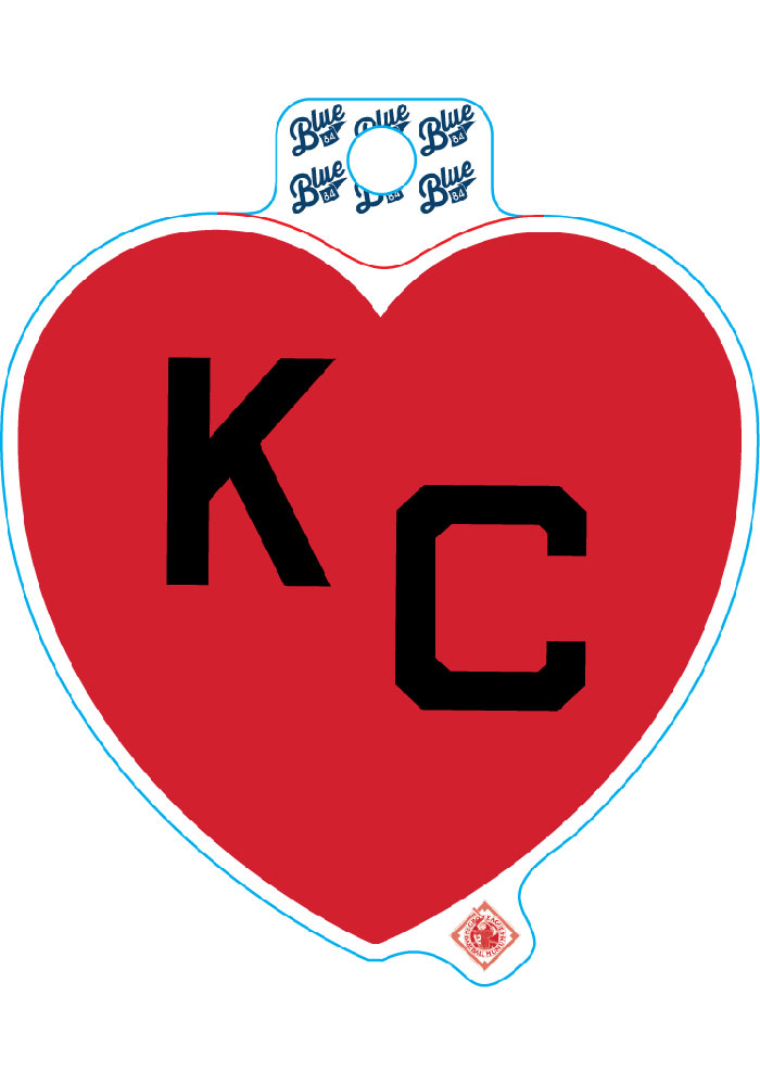 Kansas City Red Heart Black KC Stickers - Image 1