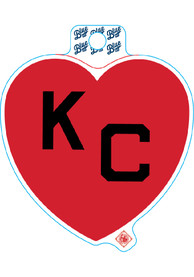 Kansas City Red Heart Black KC Stickers