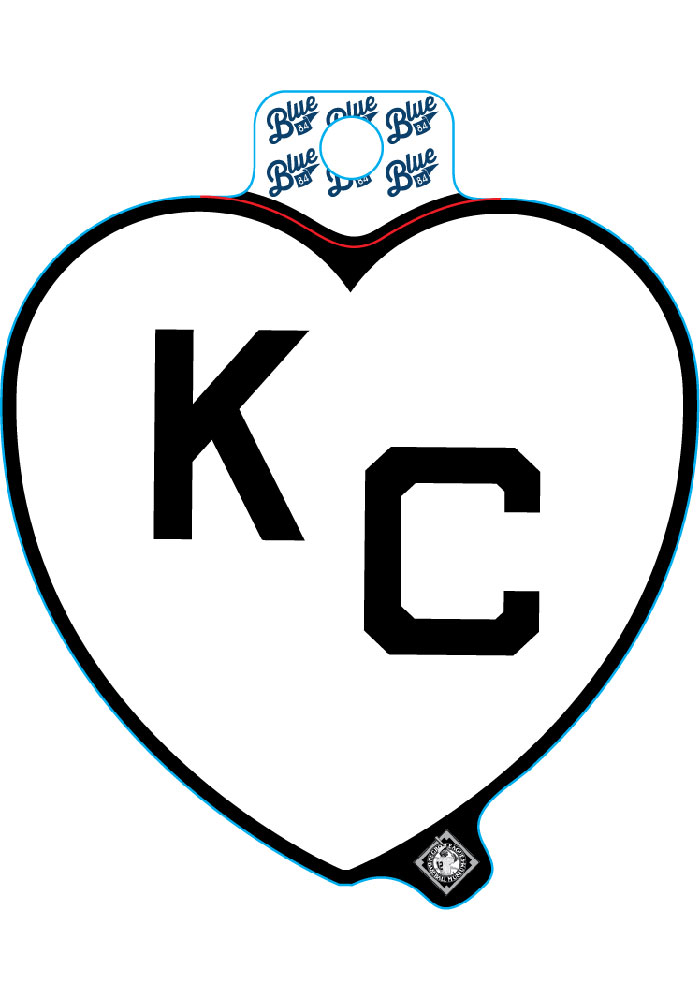 Kansas City White Heart Black KC Stickers - Image 1
