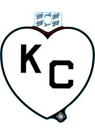 Kansas City White Heart Black KC Stickers