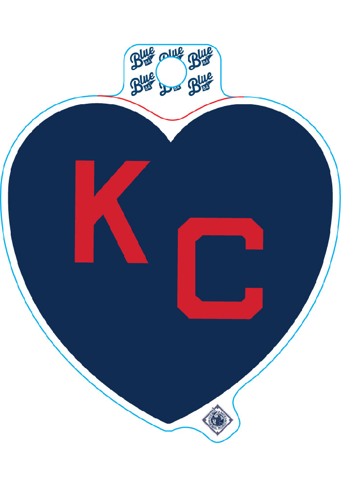 Kansas City Monarchs Navy Heart Red KC Stickers - Image 1