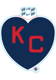 Kansas City Monarchs Navy Heart Red KC Stickers