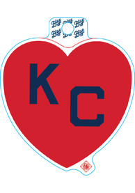 Kansas City Red Heart Navy KC Stickers