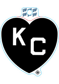 Kansas City Black Heart White KC Stickers