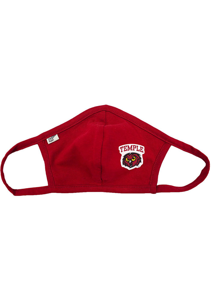 Temple Owls Team Color Fan Mask - Red