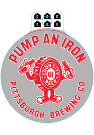 Pittsburgh Brewing Co Pump and Iron Bottle Cap Stickers