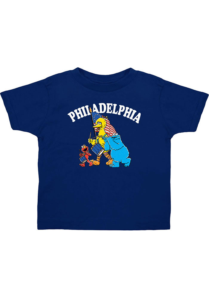Philly Toddler Navy Seasme Street Short Sleeve T Shirt - Image 1