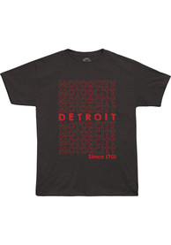 Detroit Black Motor City Short Sleeve T Shirt