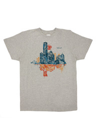 Detroit Grey Skyline Short Sleeve T Shirt