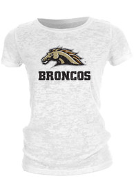 Western Michigan Broncos Juniors Mascot White T-Shirt