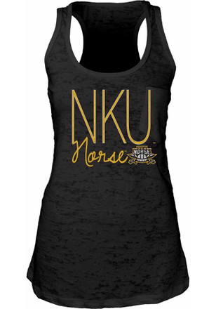 Northern Kentucky Norse Womens Black Pocket Burn Tank Top