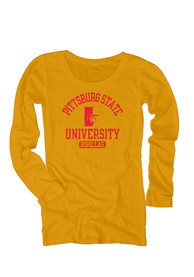Pitt State Gorillas Juniors Danville Gold Scoop Neck Tee