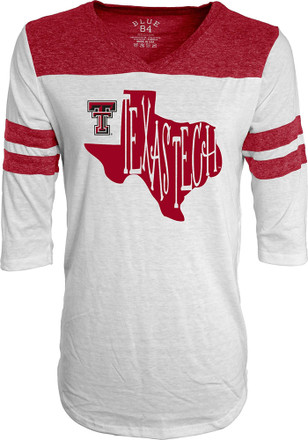 Texas Tech Womens Tri-Blend White T-Shirt