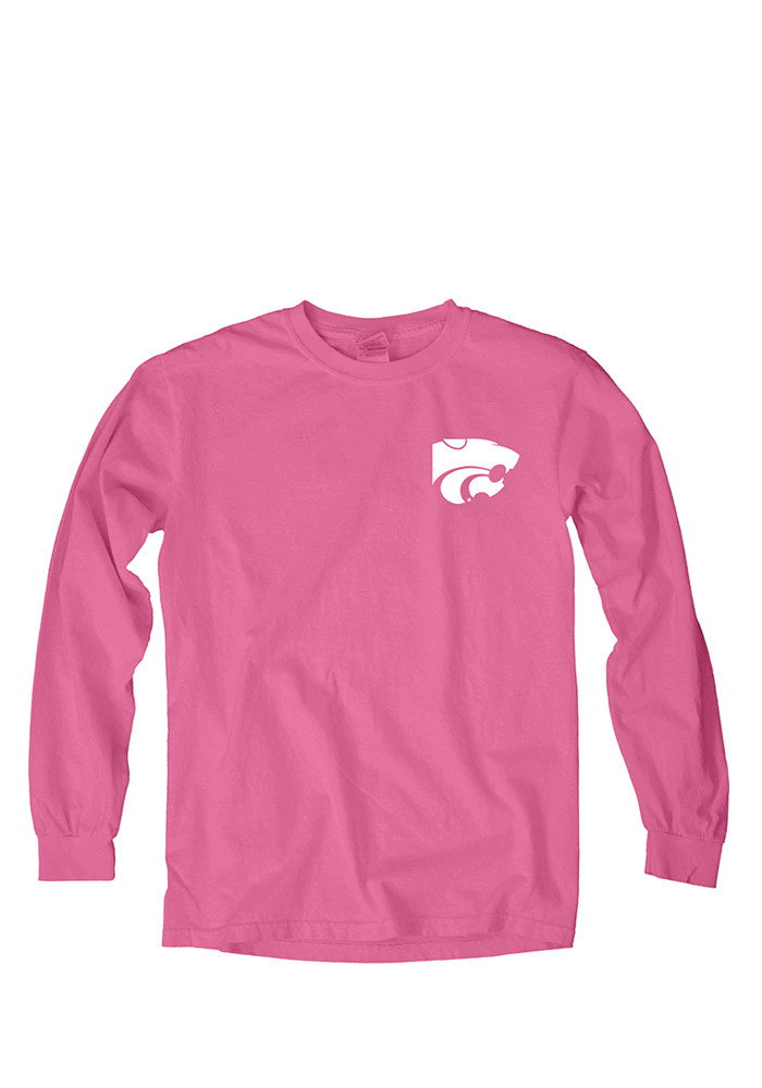 K-State Wildcats Womens Pink Paisley Lily LS Tee - Image 1