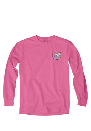 Mo State Womens Paisley Lily Pink LS Tee
