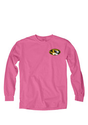Mizzou Tigers Womens Paisley Lily Pink LS Tee